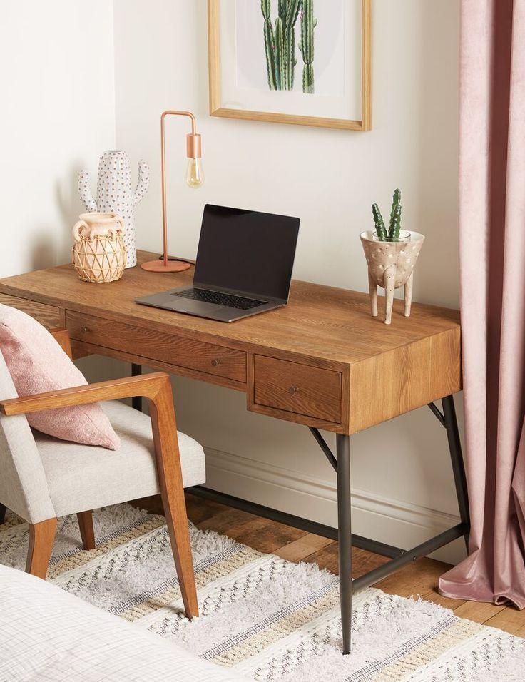 Pin On Home Inspo In 2021 Home Decor Desk In Living Room Home Office Decor Small desk for living room
