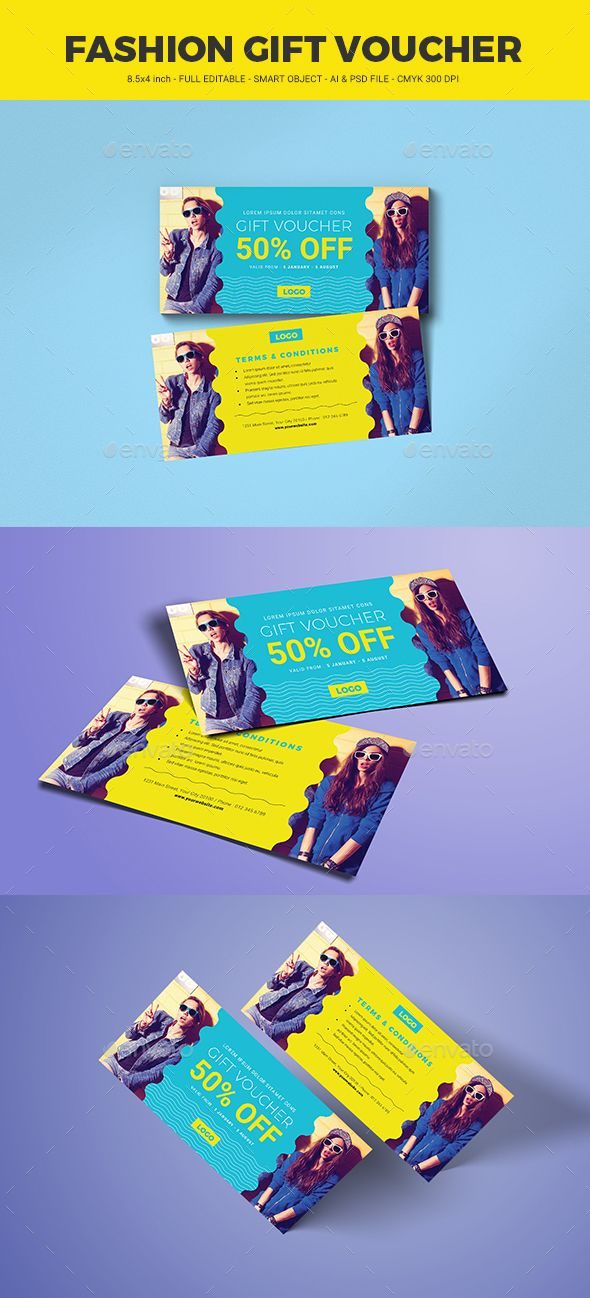 395 best gift voucher templates images on pinterest fashion gift voucher template psd ai illustrator yelopaper Images