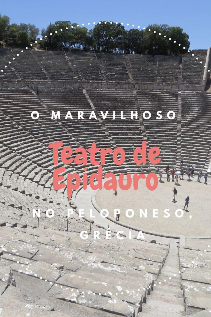 Teatro de Epidauro, construído no século IV, a.C é um dos mais bem preservados atualmente. Ele acomoda até 14.000 pessoas sentadas e possui uma das melhores acústicas também: um mero sussurro em sua arena central consegue ser ouvido até a fileira mais alta do teatro. No verão, ocorrem vários festivais, mantendo até hoje a tradição de sediar eventos em um teatro construído há tanto tempo atrás.  #viagem #viajar #grecia #peloponeso