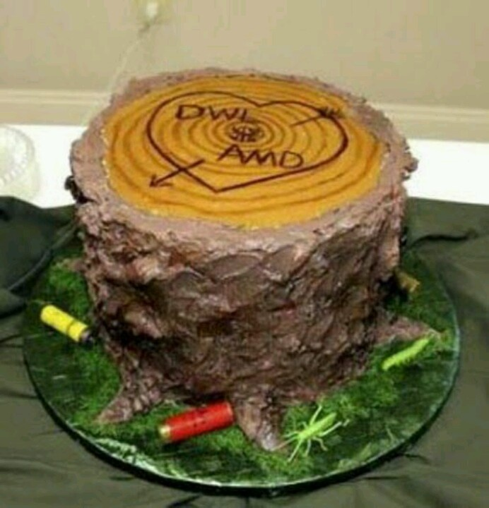 Cute redneck wedding cake