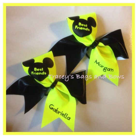 Neon Yellow Cheer Bow May 2017