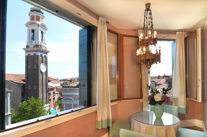 Ca' Bellini view over Santi Apostoli Tower Bell