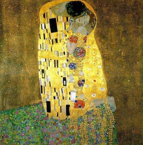El beso (original en alemán: Der Kuss) es una obra del pintor austríaco Gustav Klimt y probablemente su obra más conocida. Es un óleo sobre lienzo de 180 x 180 centímetros, realizado entre 1907-08.  Esta obra, que sigue los cánones del Simbolismo, es una tela con decoraciones y mosaicos y fondo dorado.  Está expuesta en la Österreichische Galerie Belvedere de Viena.