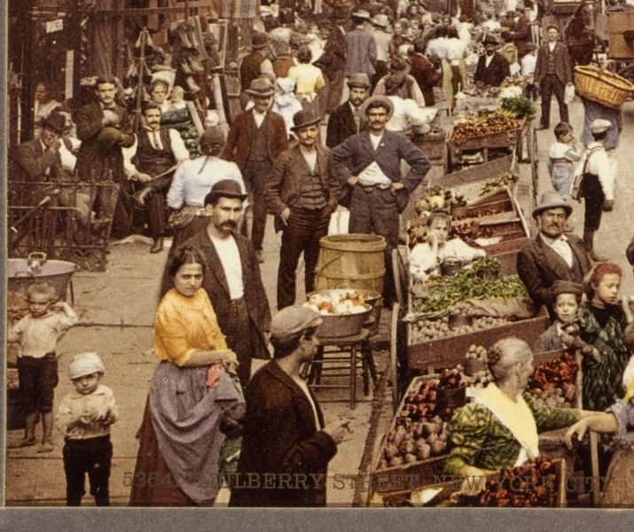 Market at the Five Points, 1900