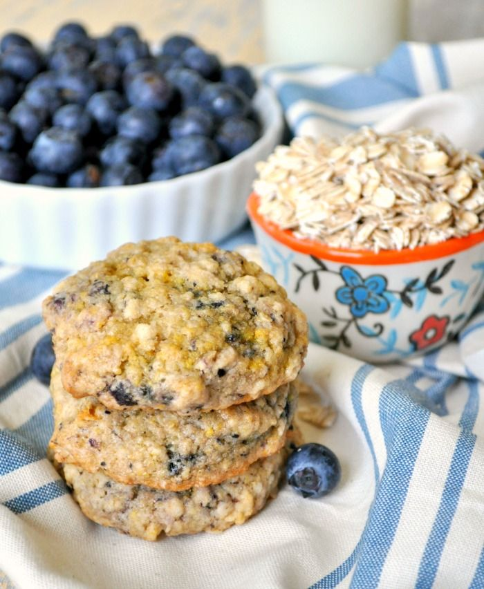 Blueberry Muffin Oatmeal Cookies 8