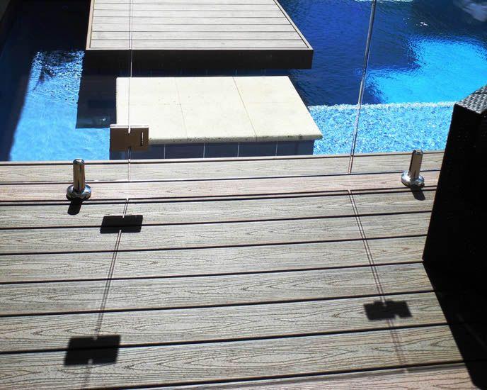 Trex Decking poolside