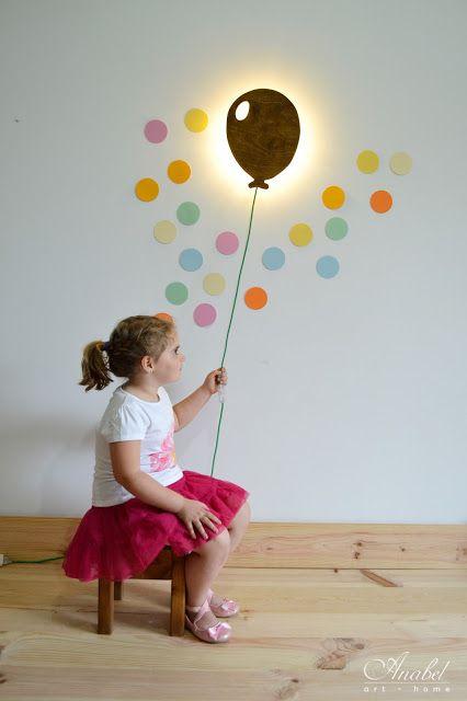 Lámpara infantil pared con forma de globo. www.anabelarthome.com