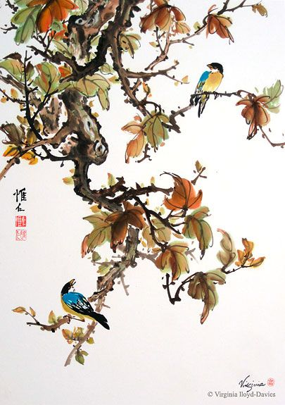 Virginia Lloyd-Davies.   Chinese Brush Paintings