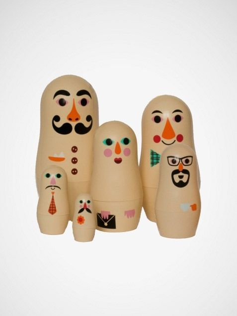 Why not design your own nesting dolls? Wouldn't it be fun to decorate like them like members of your family!? There are several blank wood sets available on Amazon