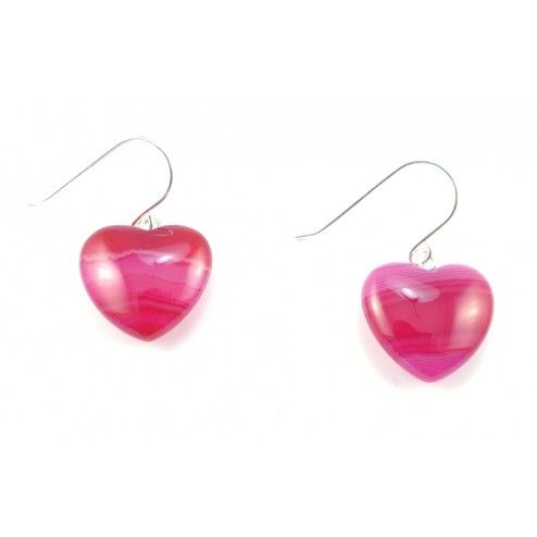 Lola Rose Daniella Pink Persian Agate Heart Earrings