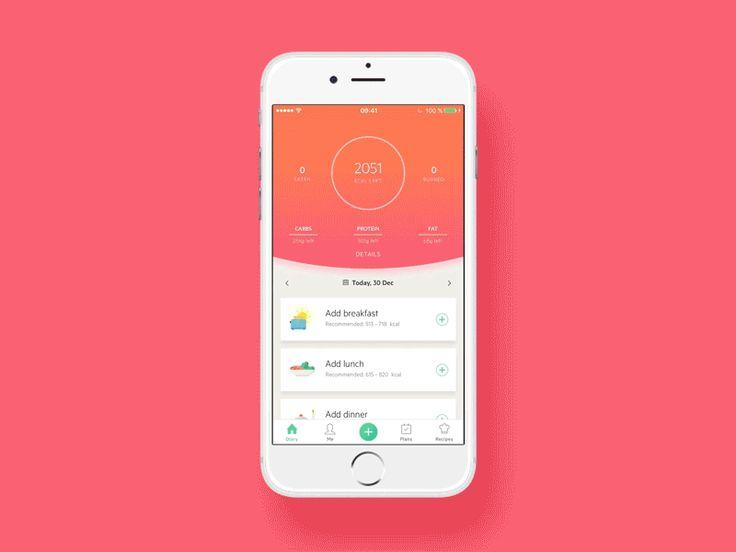 Lifesum Home Screen - UI Movement
