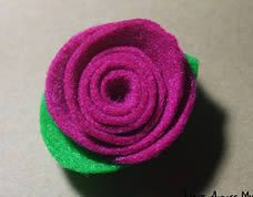 Rosas em feltro sem costura passo a passo #rosas #feltro