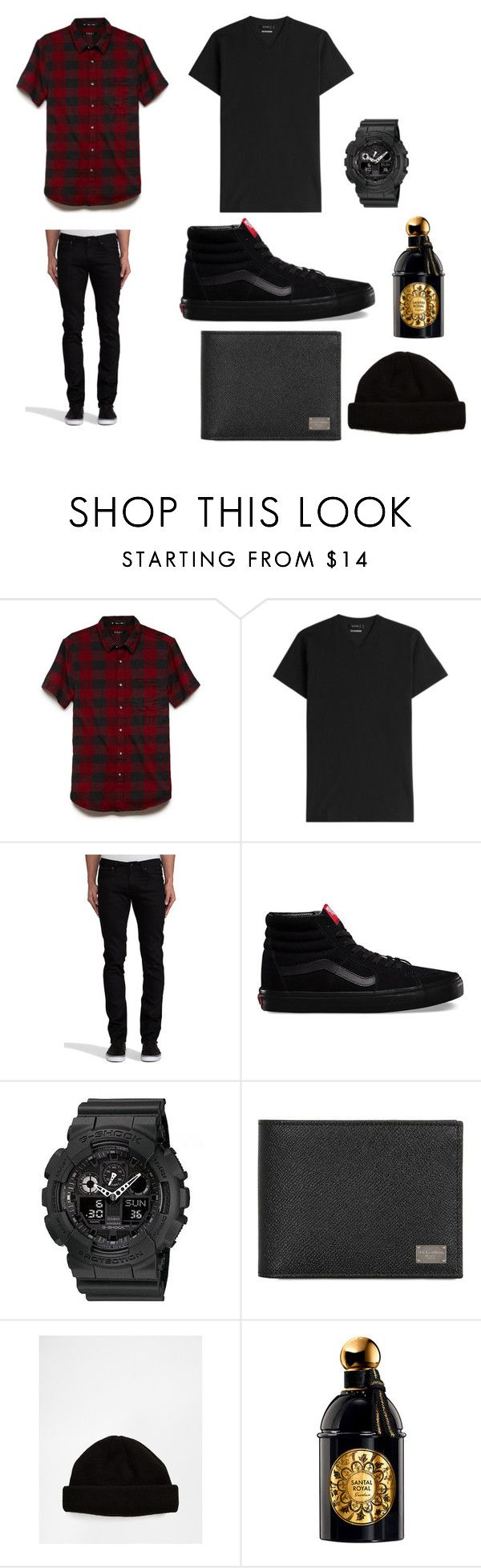 """SKATER STYLE"" by lindadacreator ❤ liked on Polyvore featuring 21 Men, Jil Sander, Naked & Famous, Vans, G-Shock, Dolce&Gabbana, ASOS, Guerlain, mens and men"