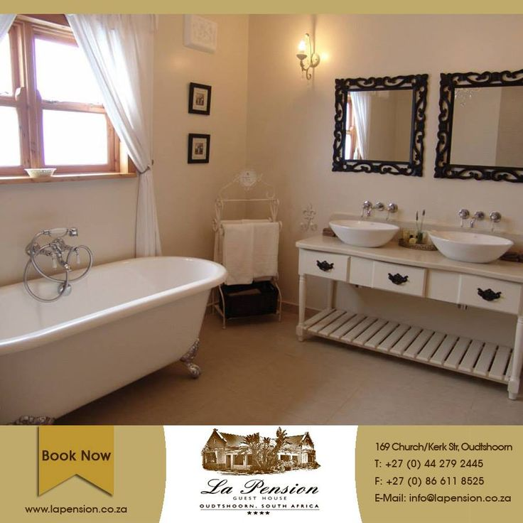 There is nothing quite like a warm, luxurious soak in the middle of winter. At La Pension our generous size bathroom is perfect for indulging in some me-time #spoilyourself #accommodation #karoo