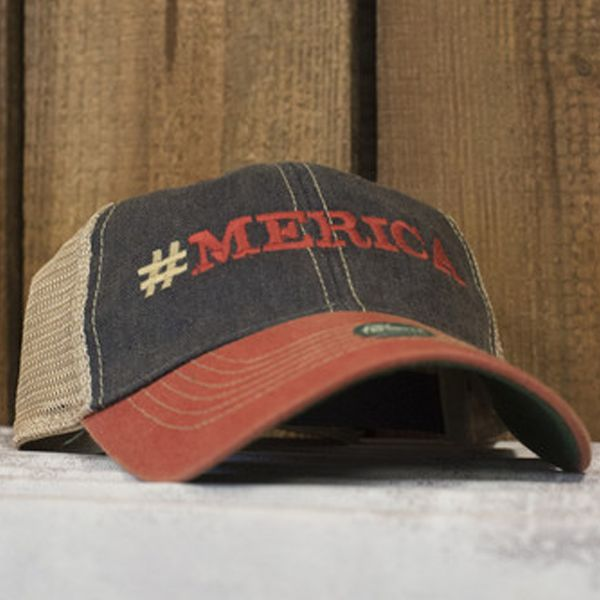 Support your country with this classic fit #MERICA cap