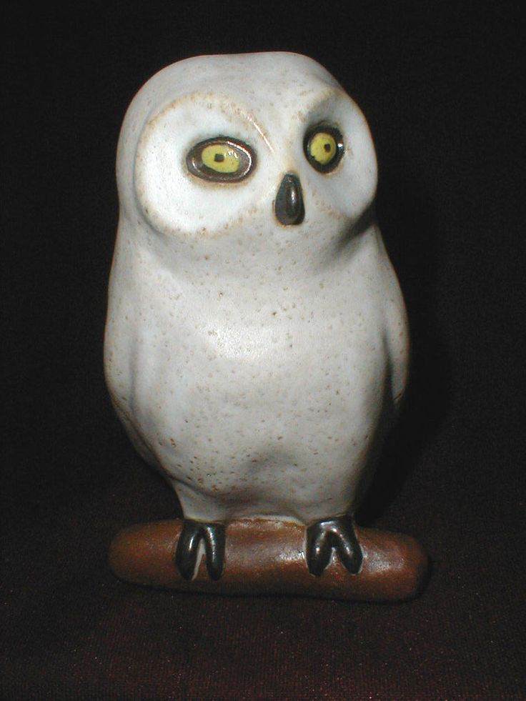 Pod Pottery Of Edgecomb Maine Snow Owl White Barn Owl
