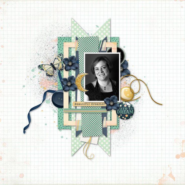 "avec le kit ""Dreams"" de P&Co Designers Template de Sahlin Studio (http://sahlinstudio.com/free-digital-scrapbooking-template-sketch-january-2017/)"
