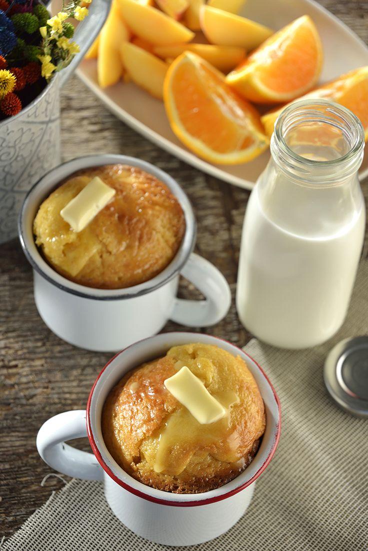 Prepara éste rico pan de elote individual. Es muy sencillo de hacer, queda con…