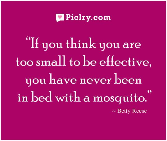 If you think you are too small - Betty Reese #Quotes #Piclry
