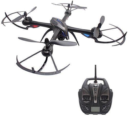 Welcomeuni i8H 2.4GHz 4CH 6 Axis Gyro RC Quadcopter Air Press Altitude Hold Compass WiFi Remote Control Vehicle Black * You can get additional details at the image link.