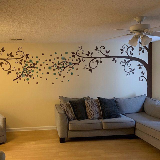 Large Tree Wall Decals Nursery Trees Decals Huge Tree Mural