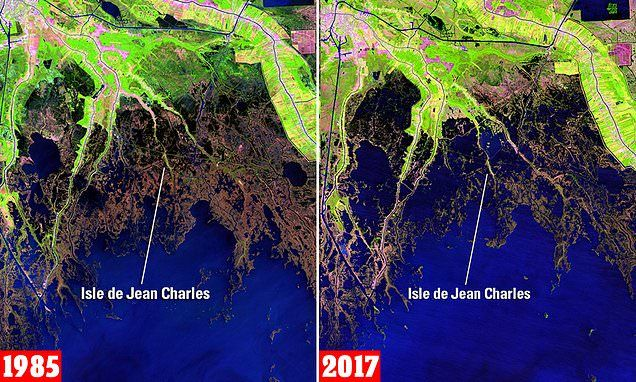 Louisiana Is Disappearing Losing 100 Yards Of Land Every 90