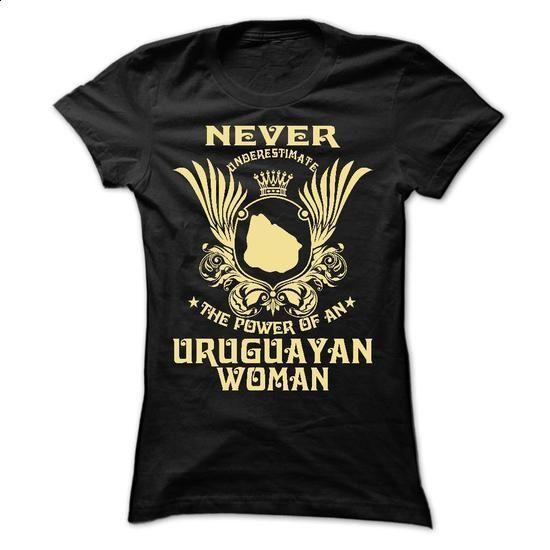 Never Underestimate the power of an Uruguayan woman - L - #hoodie #black sweatshirt. BUY NOW => https://www.sunfrog.com/LifeStyle/Never-Underestimate-the-power-of-an-Uruguayan-woman--Limited-Edition-Ladies.html?60505