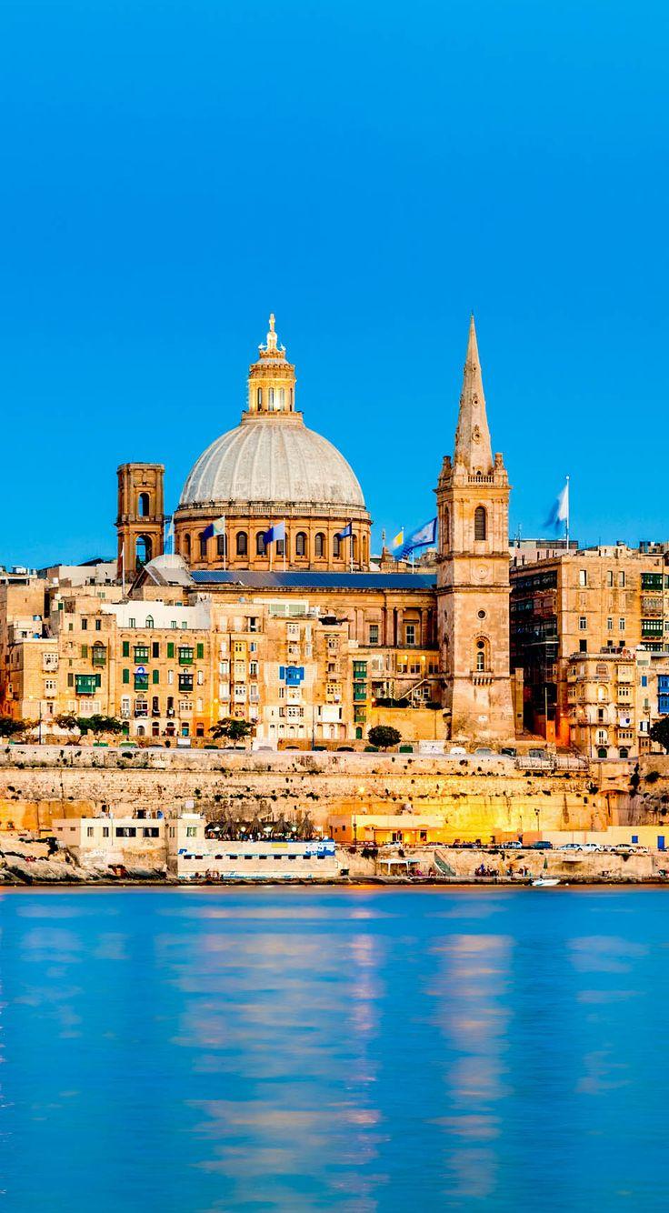 Valletta Skyline en la noche, Malta |  Visita Malta - Un pedazo de cielo en el sur de Europa