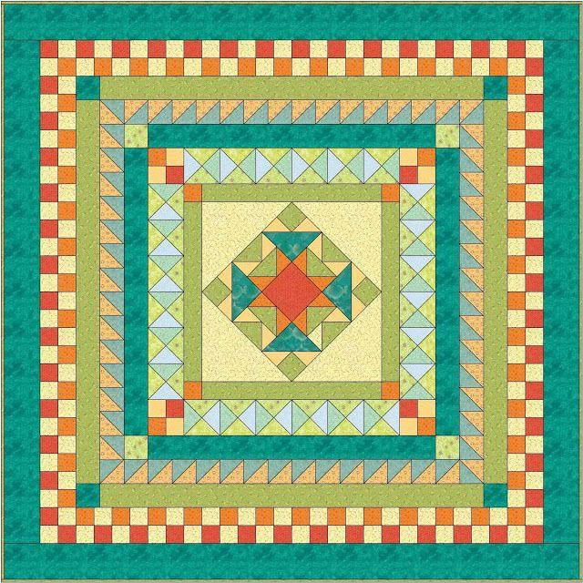 Free Quilt Design #1 | Queen Medallion | Catbird Quilt Studio