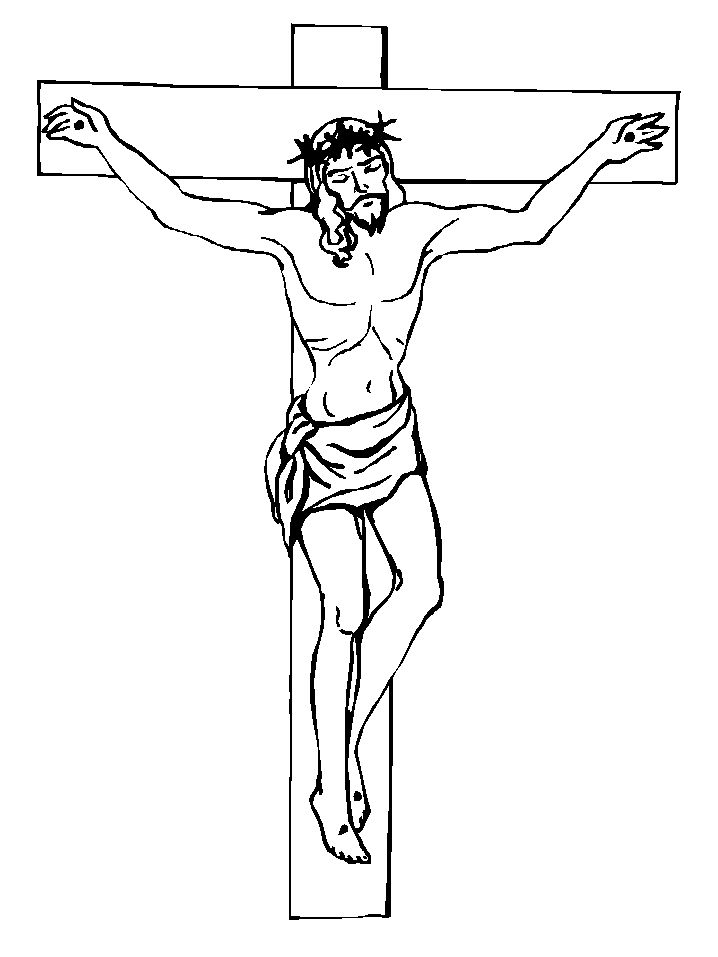 Awesome Coloring Pages Of Jesus On The Cross 87 Printable Happy Easter Jesus