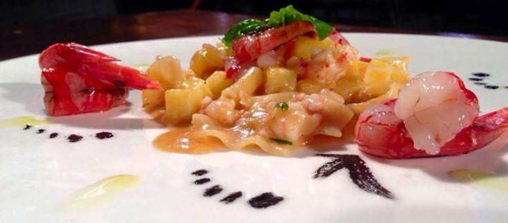 La pasta e patate al profumo di gamberi rossi  Classica versione della pasta e patate con un equilibrato sentore di gambero rosso.