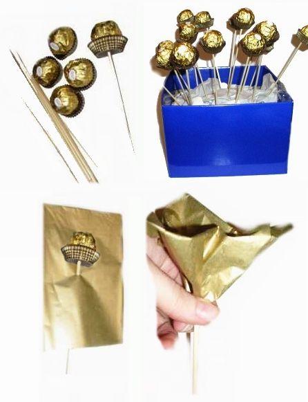 goldene Kugel Rose als Gäste-Geschenk