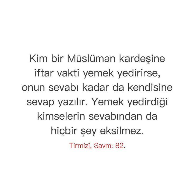 """4,637 Beğenme, 9 Yorum - Instagram'da Hz. Muhammed (sav) ❤ (@birhadis): """"""""Kim bir Müslüman kardeşine iftar vakti yemek yedirirse, onun sevabı kadar da kendisine sevap…"""""""