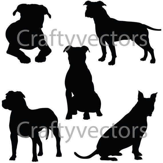 Staffordshire BULLY Silhouette Crafts Pet Chien Animal Stickers Véhicule Voiture Vinyle