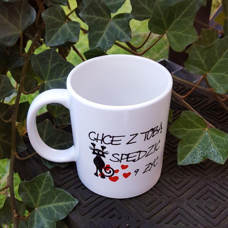 A kto reflektuje na #kubek z tekstem #miłosnym '' Chcę z Tobą spędzić 9 żyć '' ❤❤❤🐱🐈?  #cat #kot #serce #herz #kubek #cup #swieta #prezent