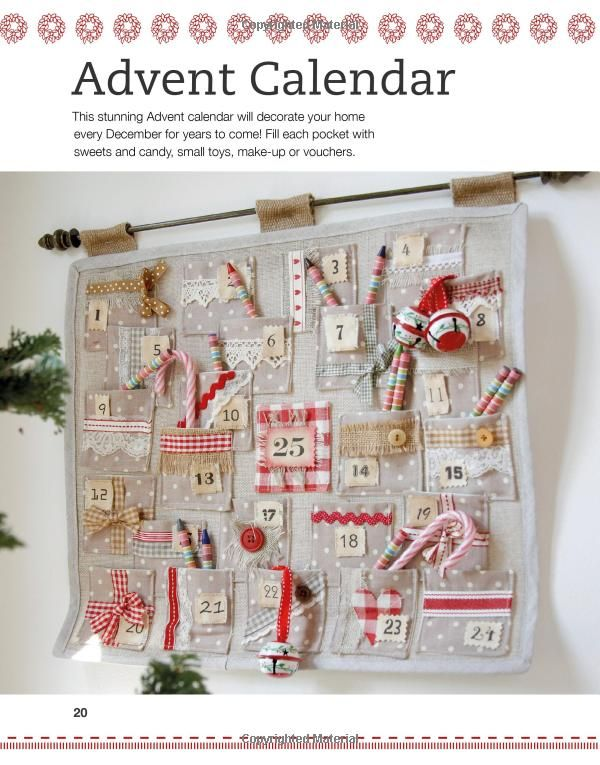 Sewn Advent Calendar Ideas : Best ideas about christmas fabric on pinterest