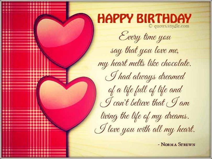 Sweet Birthday Wishes For Boyfriend ~ Boyfriend happy birthday quotes wishes pinterest
