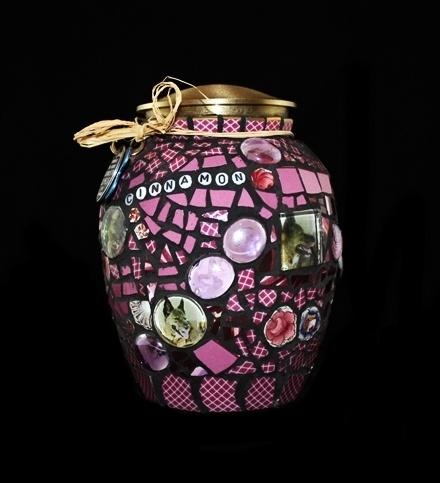 Pet URN ity: Mosaic Cremation Urn for Beloved Dog or Cat