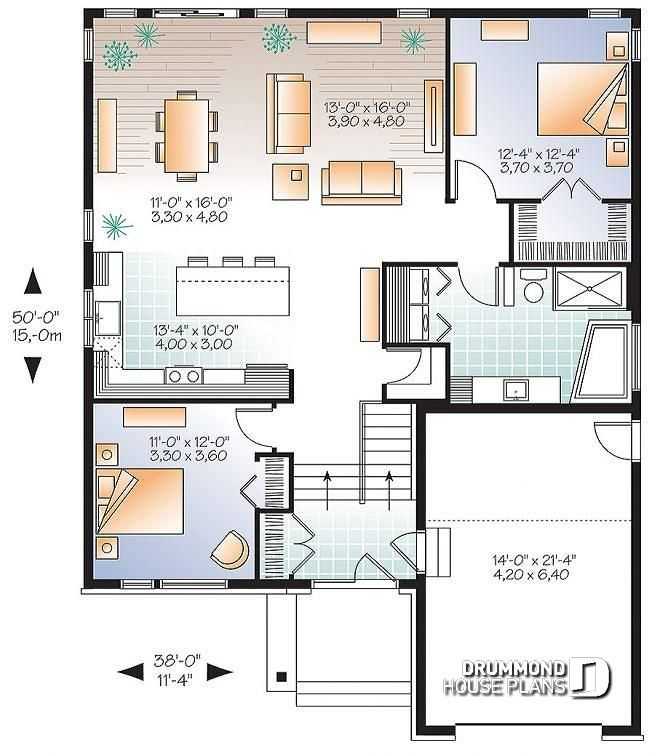 Discover The Plan 3281 V1 Urbania Which Will Please You For Its 2 Bedrooms And For Its Contemporary Styles Rustic House Plans House Floor Plans House Plans
