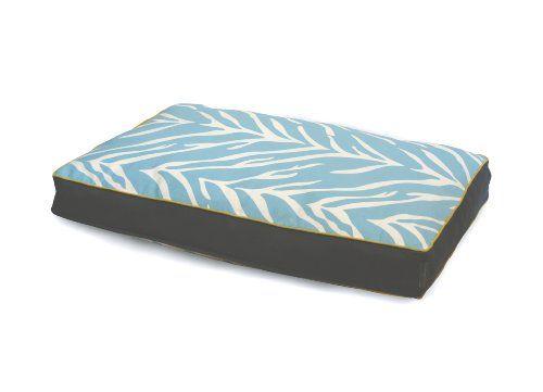 Trendy Zebra   EZ Living Home Zebra Water Repellent Memory Foam Topper Pillow Bed Turquoise