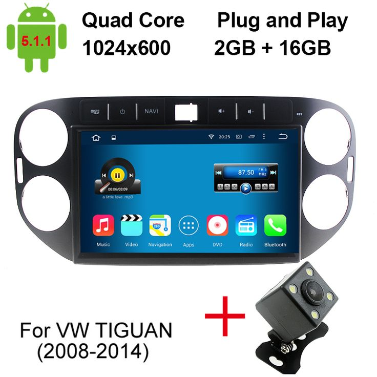 2GB/16GB 10.1 Inch Auto PC For Volkswagen VW Tiguan 2011 2012 2013 2014 Car DVD Player Quad Core Android 5.1.1 Car DVD Player
