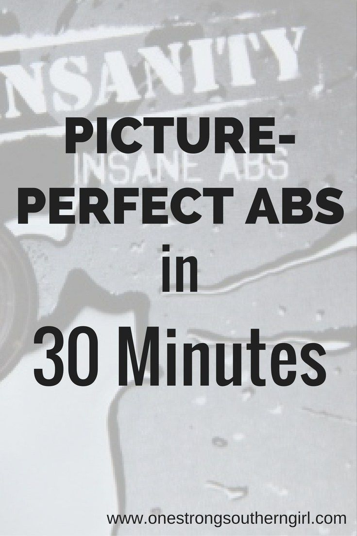 Insanity Insane Abs-Picture Perfect Abs in 30 Minutes-One Strong Southern Girl-No every ab exercise is graceful but they work if you do them. Don't skip this one because it's not new. It works.