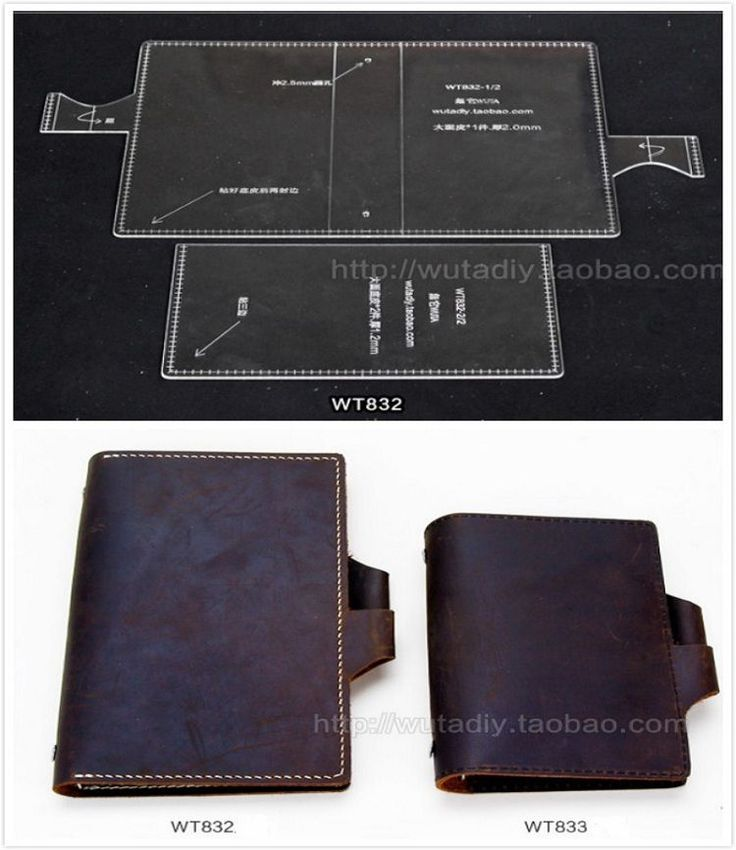 Travel Notebook Leather template Acrylic Leather Pattern for Leathercraft…