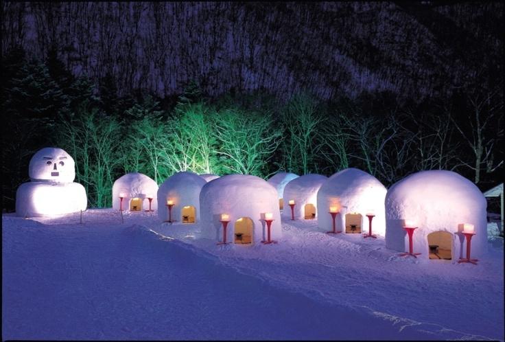 Image result for Yokote Kamakura Snow Festival