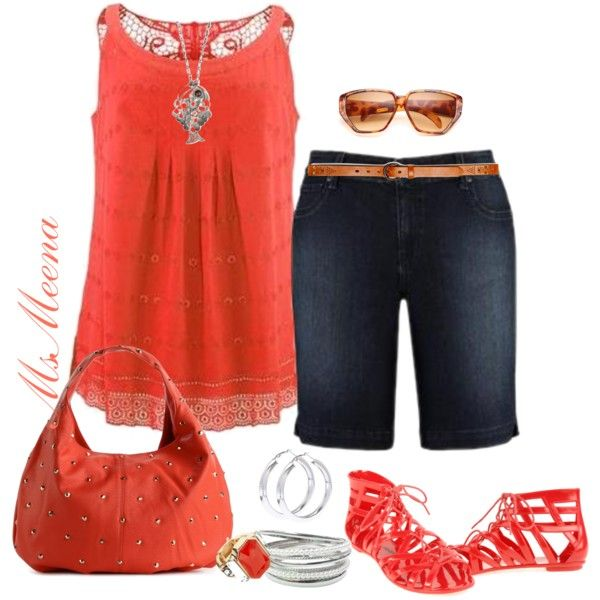Avenue outfit - Plus size, created by msmeena on Polyvore