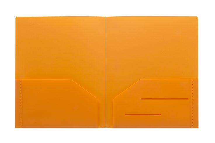 Orange Heavy Duty Plastic Folder   STEMSFx  #WorkColorfully #Stemsfx
