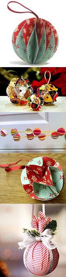 Потрясающие, объемные, и очень простые в изготовлении игрушки на елку своими руками!