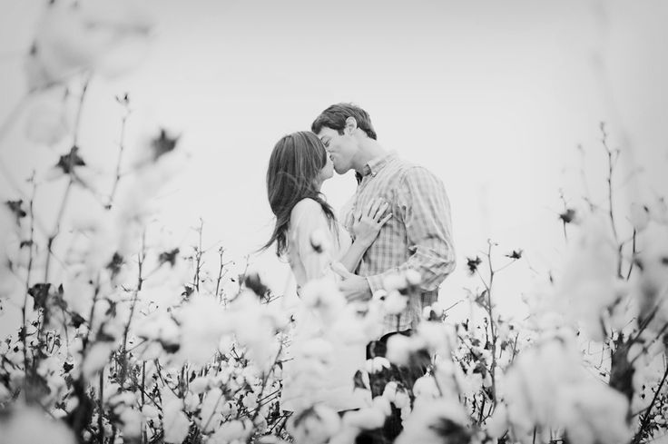 Engagement photo session idea! I seriously love cotton fields! It a bit of an…
