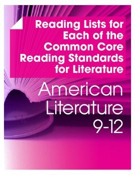 If you are struggling to find readings that meet each of the Common Core standards for literature in an American Literature course, look no further! $