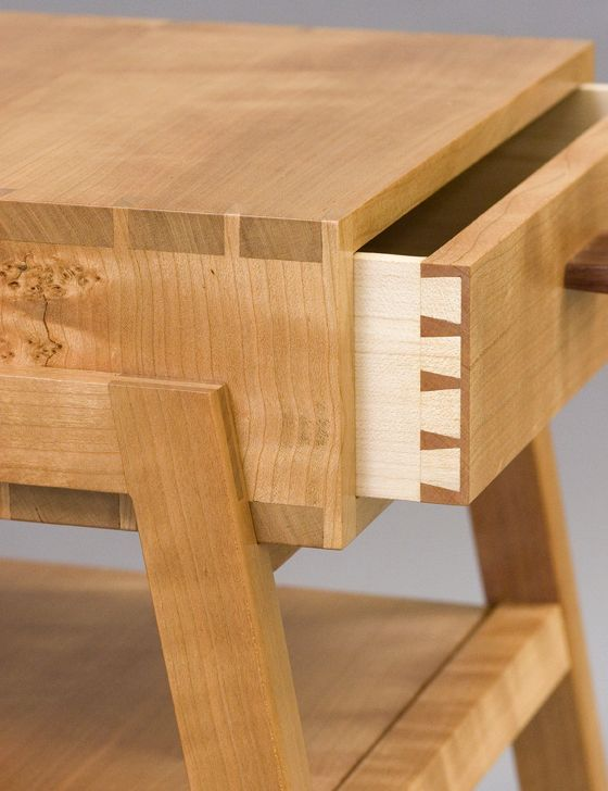 Gorgeous joinery detail of a Cherry side table by Michele Diener.